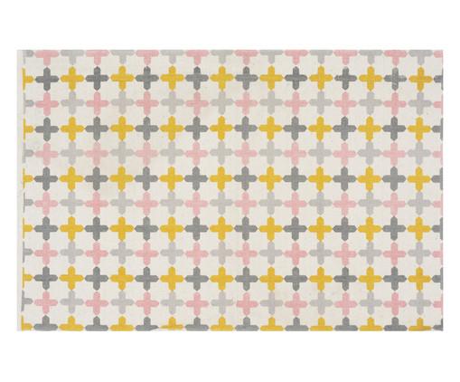 Tapete Pequeno Hype, Amarelo, Rosa e Cinza | WestwingNow
