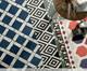 Tapete Pequeno Jaipur, Azul e Laranja | WestwingNow