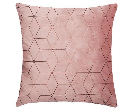 Almofada em Veludo Geométrica Rodig - Rosa, Rosa | WestwingNow
