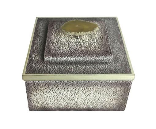 Caixa Decorativa de Resina Alóis - Cinza, Cinza | WestwingNow