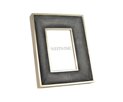 Porta-Retrato Bourbon - Prateado, Transparente | WestwingNow