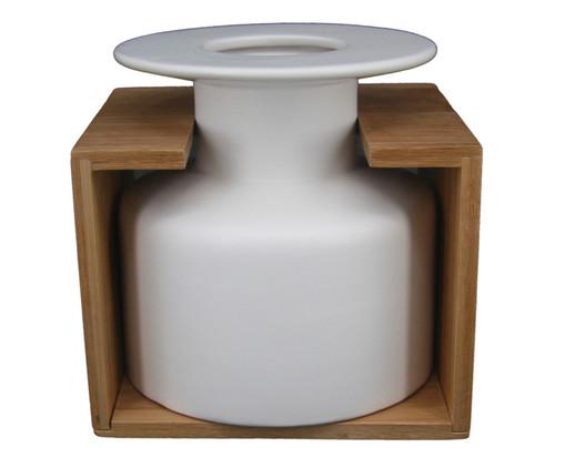 Vaso em Cerâmica Harry - Branco, Branco   WestwingNow