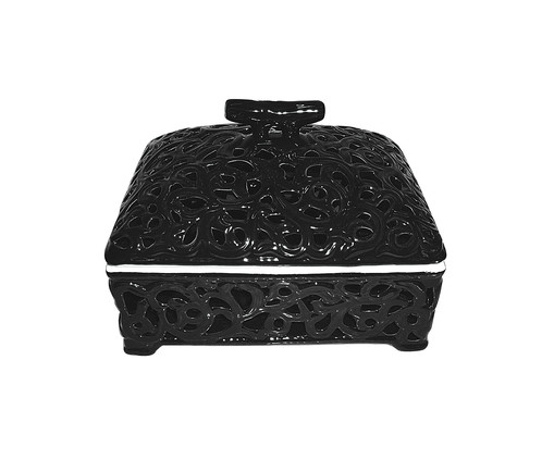 Caixa de Cerâmica Noeem - Preta, Preto | WestwingNow
