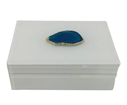 Caixa Up Ágata Azul - Branca, Branco | WestwingNow