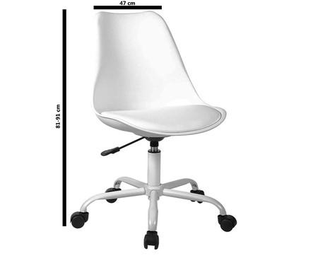 Cadeira de Escritório com Rodízios Lucinda - Branca | WestwingNow