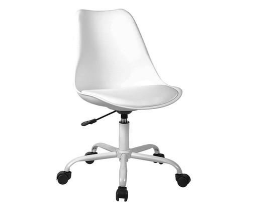 Cadeira de Escritório com Rodízios Lucinda - Branca, Branco | WestwingNow