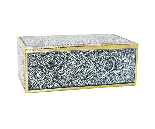 Caixa Decorativa de Resina Ferrarezi - Cinza, Cinza | WestwingNow