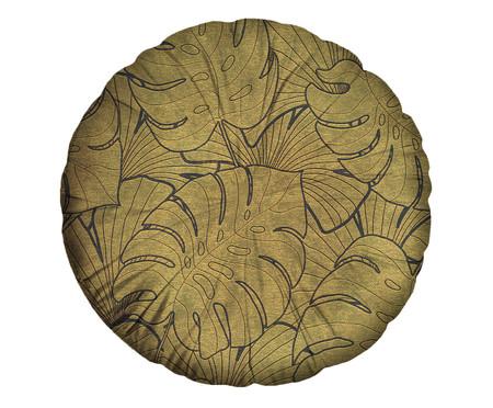 Almofada Redonda em Veludo Chisholm - Westwing Collection - Dourada | WestwingNow