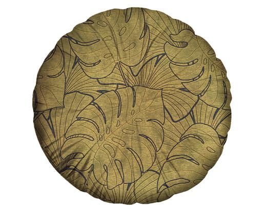 Almofada Redonda em Veludo Chisholm, Dourado | WestwingNow