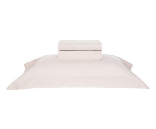 Jogo de Lençol de Algodão Filetti Soft 200 Fios - Rosé e Branco, Rosê | WestwingNow