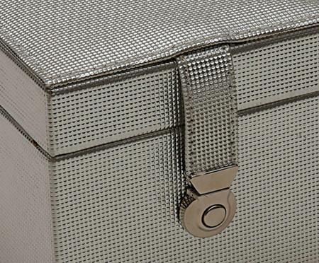 Porta-Jóias em Couro Sintético Zoe - Cinza | WestwingNow
