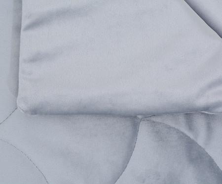 Duvet em Veludo Escamas - Cinza | WestwingNow