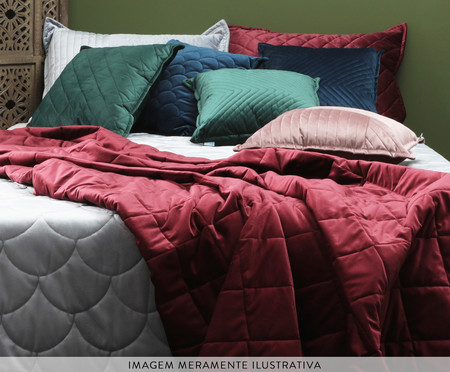 Porta Travesseiro em Veludo Ripado Mosaico Bege | WestwingNow