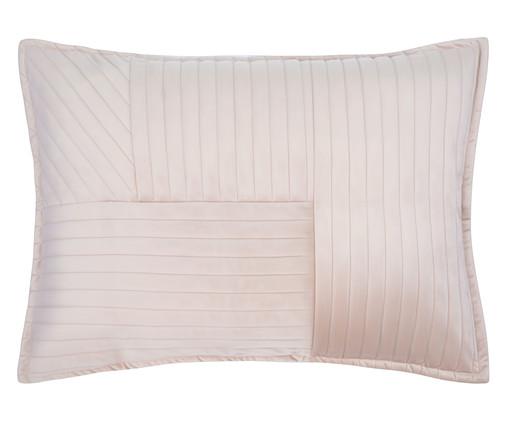 Porta Travesseiro em Veludo Ripado Mosaico Bege, Bege | WestwingNow