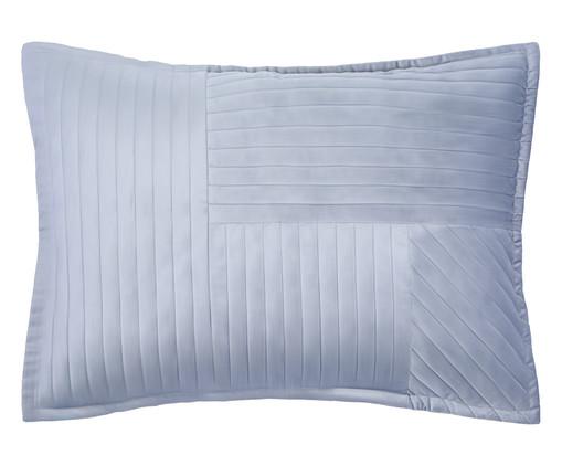 Porta Travesseiro em Veludo Ripado Mosaico Cinza, Cinza | WestwingNow
