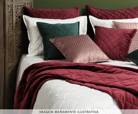 Porta Travesseiro em Veludo Ripado Mosaico Cinza | WestwingNow
