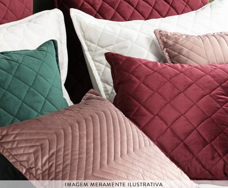 Porta Travesseiro em Veludo Losango Gelo | WestwingNow
