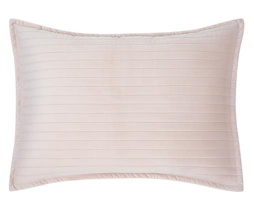 Porta Travesseiro em Veludo Ripado Bege, Bege | WestwingNow