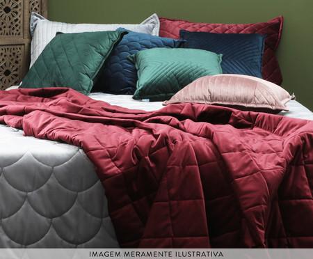 Porta Travesseiro em Veludo Ripado Cinza | WestwingNow