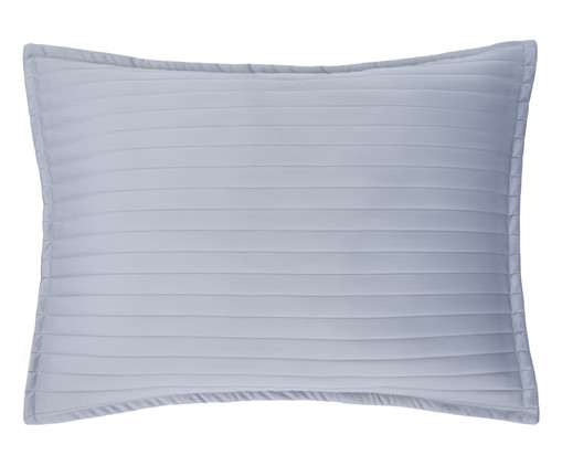 Porta Travesseiro em Veludo Ripado Cinza, Cinza | WestwingNow