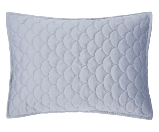 Porta Travesseiro em Veludo Escamas Cinza, Cinza | WestwingNow