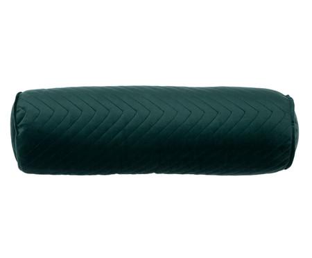 Almofada em Veludo Rolinho com Vivo Zig Zag - Verde | WestwingNow