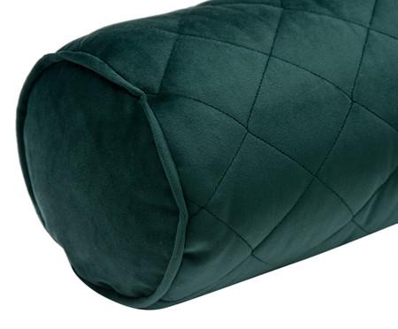 Almofada em Veludo Rolinho com Vivo Loss - Verde Escuro | WestwingNow