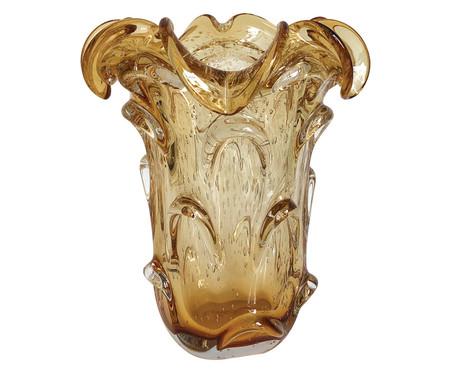 Vaso de Vidro Buriti -  Âmbar | WestwingNow
