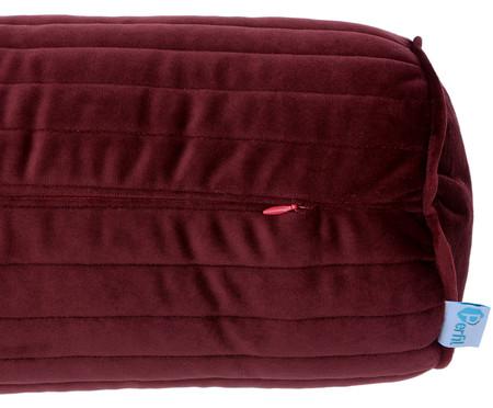 Almofada em Veludo Rolinho com Vivo Ripado - Vermelho | WestwingNow