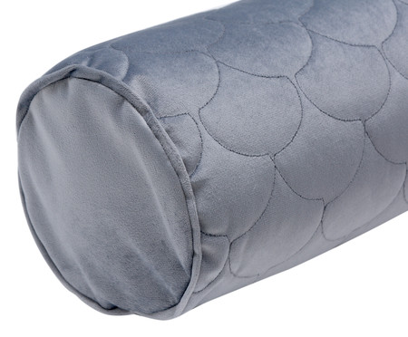 Almofada em Veludo Rolinho com Vivo Escamas - Cinza | WestwingNow