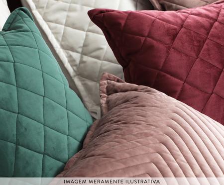 Almofada em Veludo Ripado Mosaico - Rosê | WestwingNow