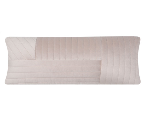 Almofada em Veludo Ripado Mosaico - Bege, beige | WestwingNow