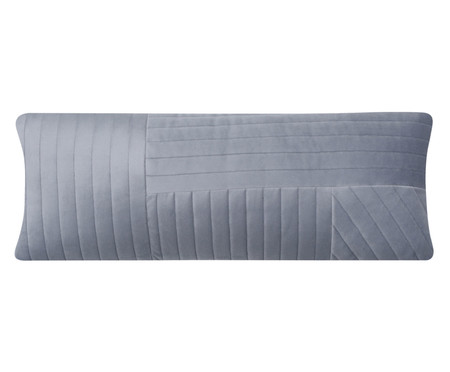 Almofada em Veludo Ripado Mosaico - Cinza | WestwingNow
