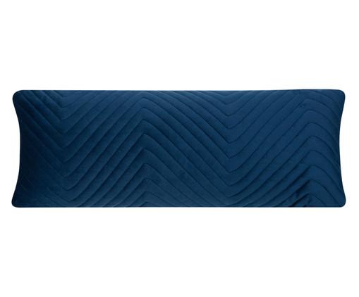 Almofada em Veludo Zig Zag - Azul, blue | WestwingNow