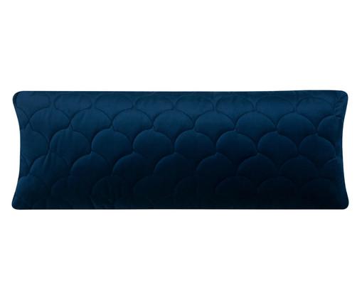 Almofada em Veludo Escamas - Azul, blue   WestwingNow