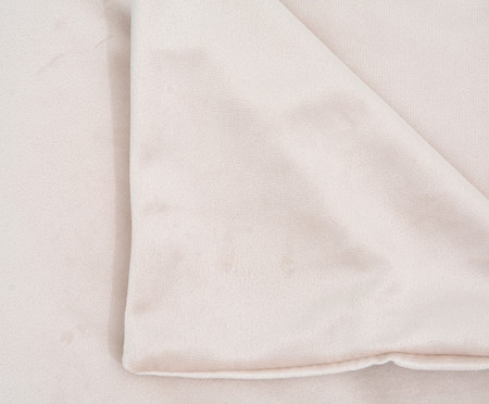 Duvet em Veludo Solid - Bege | WestwingNow