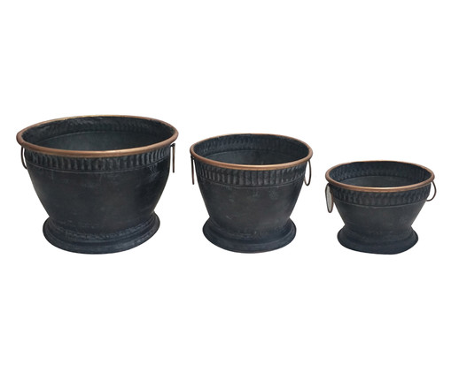 Jogo de Vasos de Piso Tova - Preto, Preto | WestwingNow