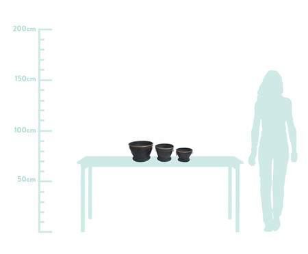 Jogo de Vasos de Piso Tova - Preto | WestwingNow