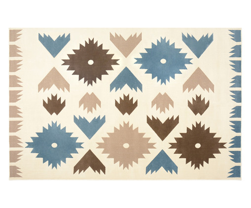 Tapete Trendy Folk Colorido, Azul e Marrom | WestwingNow