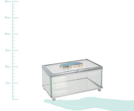 Porta-Jóias Jasmin - Azul e Transparente | WestwingNow