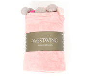 Manta com Pompom Crux - Rosa Claro | WestwingNow
