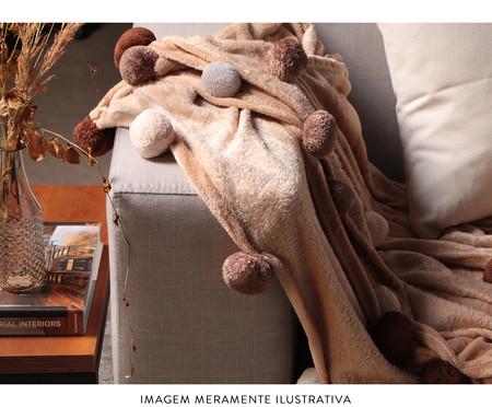 Manta com Pompom Crux - Marrom | WestwingNow