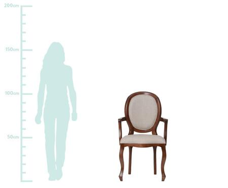 Cadeira com Braços em Linho Medalhão Pierce - Cru | WestwingNow