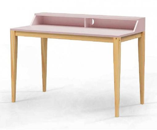 Escrivaninha de Madeira Pine - Rosa Claro, Rosa   WestwingNow