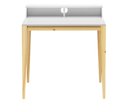 Escrivaninha de Madeira Pine - Branca, Branco | WestwingNow