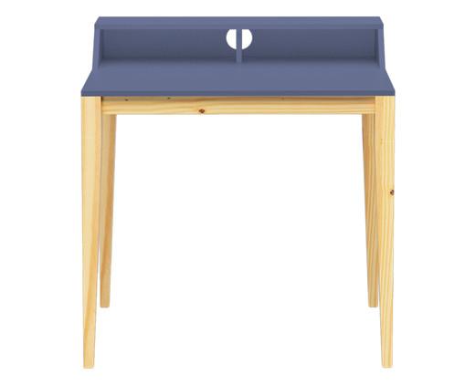 Escrivaninha de Madeira Pine - Azul Petróleo, Azul | WestwingNow