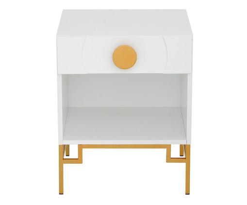 Mesa de Cabeceira Cerchio D'Oro com Nicho - Branca, Branco | WestwingNow