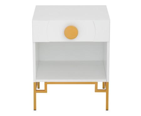 Mesa de Cabeceira Cerchio D'Oro com Nicho - Branca | WestwingNow