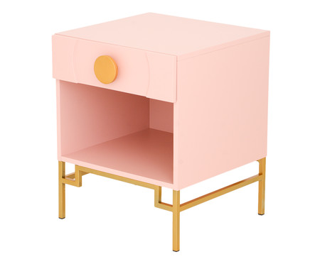 Mesa de Cabeceira Cerchio D'Oro com Nicho -  Rosé | WestwingNow