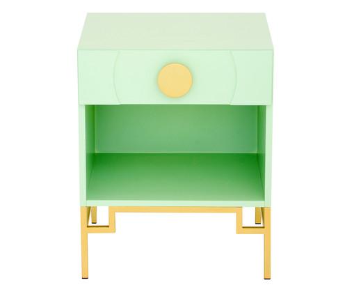 Mesa de Cabeceira Cerchio D'Oro com Nicho - Mint, Verde | WestwingNow